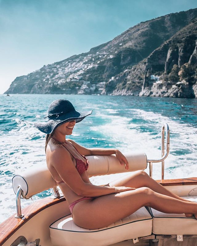 private boat in Positano